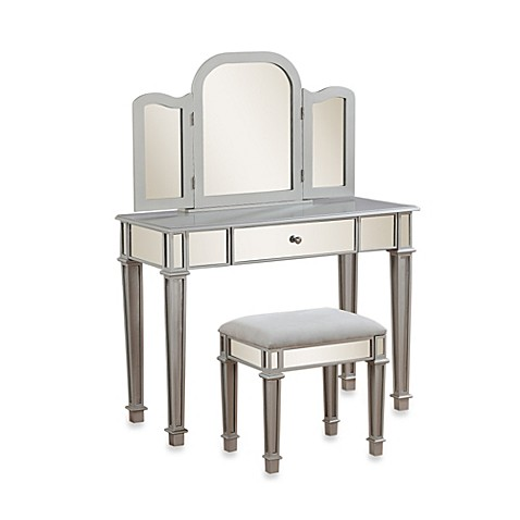 linon home decor corner vanity set buy linon home annalisa vanity set from bed bath amp beyond 13511