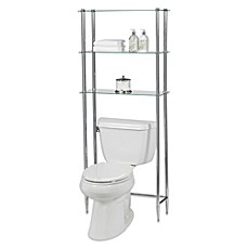 Image Of Creative Bath Lu0027Etagere 3 Shelf Glass Space Saver