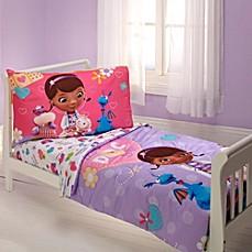 image of disney doc mcstuffins 4piece toddler bed set