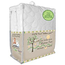 image of Dreamtex My Little Nest 2-Pack Waterproof Tencel® Lyocell Pebbletex Crib Mattress Pad Covers