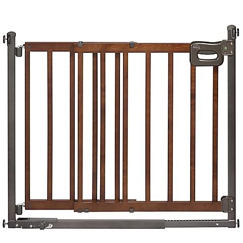 Homesafe Step To Secure Wood Walk Thru Gate Buybuy Baby