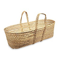 image of Tadpoles Palm-Woven Moses Basket