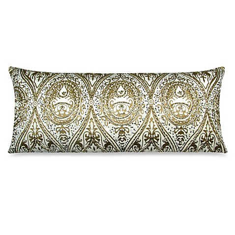 Oblong Throw Pillow in Gold - Bed Bath & Beyond