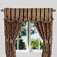 image of Austin Horn Classics Ravel Window Curtain Panel and Valance