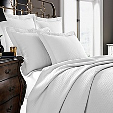 image of Kassatex Diamante Collection Coverlet in White