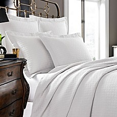 image of Kassatex Positano Collection Coverlet in White