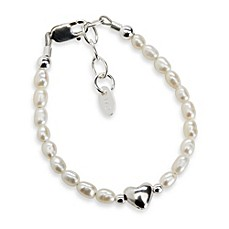 image of Cherished Moments Destiny Sterling Silver with Freshwater Cultured White Pearls Bracelet