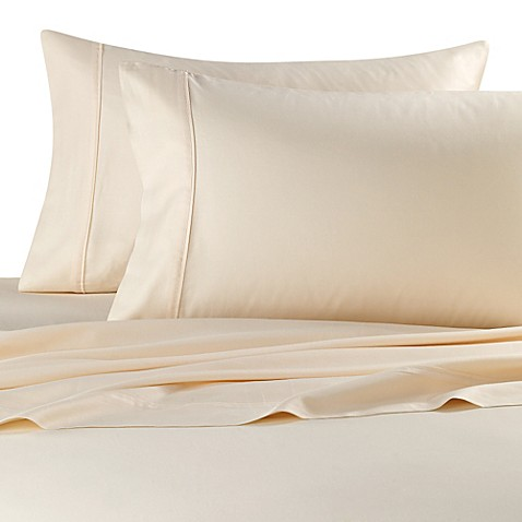 buy 300 thread count queen deep pocket sheet set in ivory from bed bath beyond. Black Bedroom Furniture Sets. Home Design Ideas