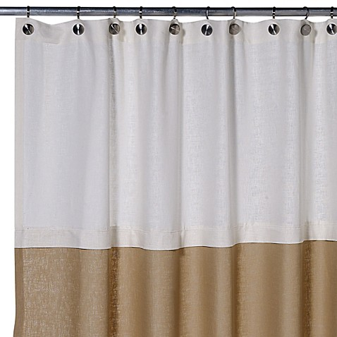 Buy Soho 50 Inch X 84 Inch Linen Stall Shower Curtain In Pearl Khaki From Bed Bath Beyond