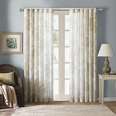 Harbor House Palm Sheer Window Curtain Panels Bed Bath Beyond