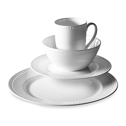 Tabletops Unlimitedu0026reg; Otella Bone China 16-Piece Dinnerware Set  sc 1 st  Bed Bath u0026 Beyond : beaded dinnerware set - pezcame.com