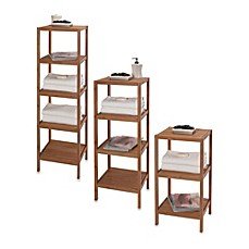 Image Of Creative Bath EcoStyles Shelf Bamboo Tower