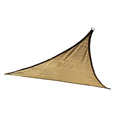 image of ShelterLogic® Triangle 16-Foot and 12-Foot Sun Shade Sails in Sand