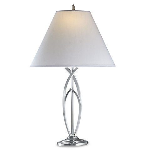 Curve Brushed Nickel Table Lamp Bed Bath Amp Beyond
