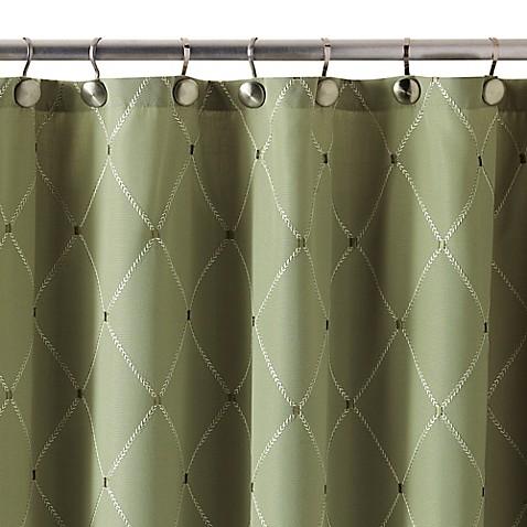 wellington shower curtain in green bed bath beyond