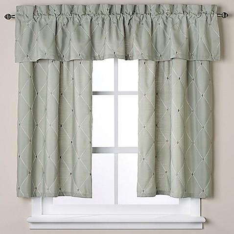 wellington bath window curtain valance in green bed bath beyond