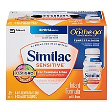image of Similac Sensitive® 8 oz. On-The-Go Infant Formula (Pack of 6)