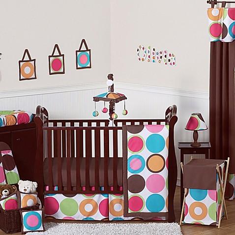 Sweet jojo designs deco dot crib bedding collection bed for Sweet jojo designs bathroom