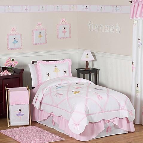 Buy sweet jojo designs ballerina full queen bedding set for Sweet jojo designs bathroom