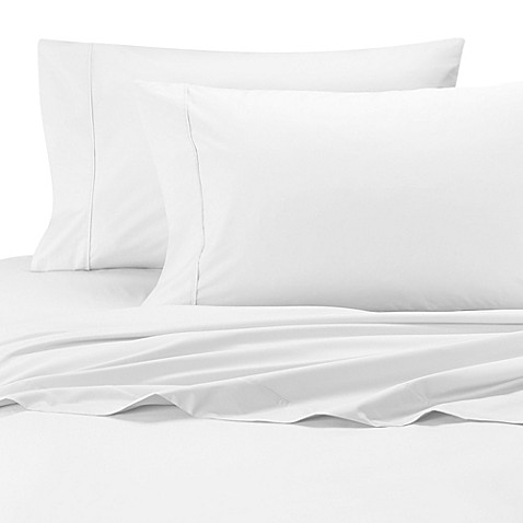 wamsutta cool touch percale cotton olympic queen flat. Black Bedroom Furniture Sets. Home Design Ideas