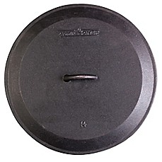 image of Camp Chef Pre-Seasoned Round Cast Iron Skillet Lids