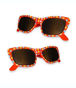 Pinzas para toalla Boca Clips®, con forma de lentes de sol con lunares en rojo, Set de 2