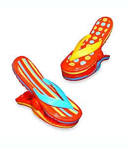 Pinzas para toalla Boca Clips®, con forma de sandalias, Set de 2