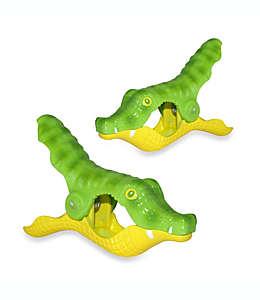 Pinzas para toalla Boca Clips®, con forma de cocodrilo, Set de 2