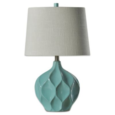 Coventry Facets Ceramic Table Lamp In Woodlawn