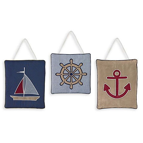 Buy Sweet Jojo Designs Nautical Nights 3 Piece Wall