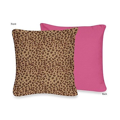 Sweet Jojo Designs Cheetah Girl Throw Pillow - Bed Bath & Beyond