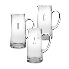 image of Susquehanna Glass Monogrammed Block Letter Pitcher