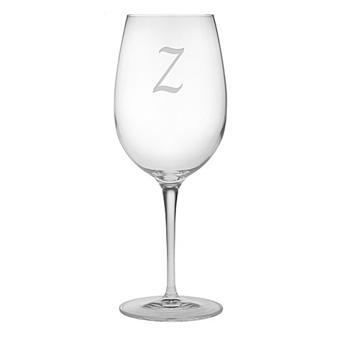 Monogrammed Wine Glasses Bed Bath And Beyond