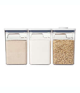Set de contenedores para alimentos OXO Good Grips® POP, 6 piezas en blanco