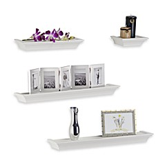 Melannco 4 Piece Ledge Set In White