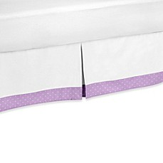 image of Sweet Jojo Designs Suzanna Toddler Bed Skirt in Lavender/White