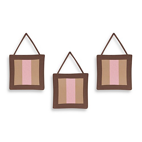 Sweet Jojo Designs Soho 3 Piece Wall Hanging Set In Pink