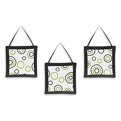 Sweet jojo designs spirodot 3 piece wall hanging set in for Wall piece design