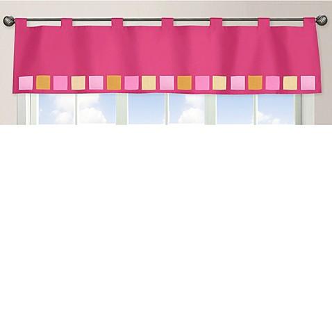 sweet jojo designs pink and orange butterfly window valance bed bath beyond. Black Bedroom Furniture Sets. Home Design Ideas