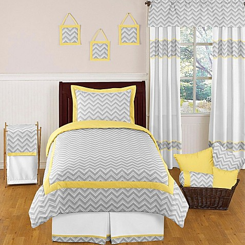 Sweet jojo designs zig zag bedding collection in grey for Zig zag bedroom ideas