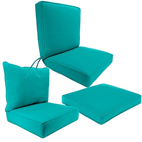 Marvelous Outdoor Seat Cushion Collection In Sunbrellau0026reg; Canvas Aruba With Sunbrella Patio Cushions
