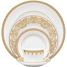 image of Waterford® Lismore Lace Dinnerware Collection in Gold