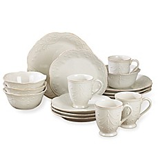 image of Lenox® French Perle 16-Piece Dinnerware Set in White