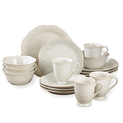 Lenoxu0026reg; French Perle 16-Piece Dinnerware Set in White  sc 1 st  Bed Bath u0026 Beyond & Lenox® French Perle 16-Piece Dinnerware Set in White - Bed Bath u0026 Beyond