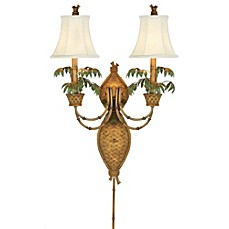 image of Pacific Coast® Lighting Polynesian Paradise Wall Mount Lamp
