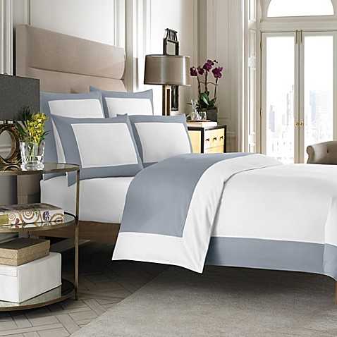 Wamsutta® Hotel MICRO COTTON® Reversible Duvet Cover in White/Blue