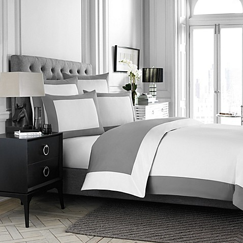 image of wamsutta hotel micro cotton reversible duvet cover in