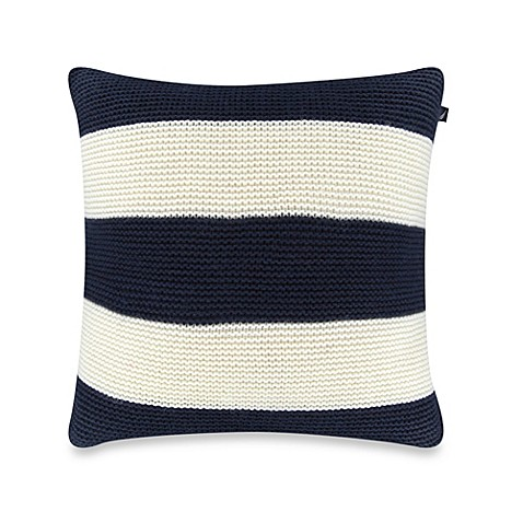 Nautica Decorative Pillows Navy : Nautica Mainsail Knit Square Throw Pillow in Navy - Bed Bath & Beyond