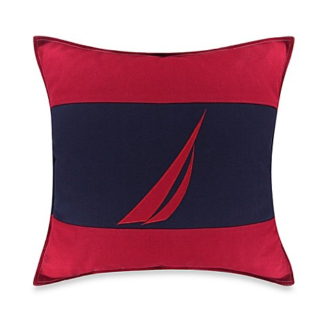 Red Throw Pillows For Bed : Nautica Mainsail J-Class Square Throw Pillow in Red - Bed Bath & Beyond