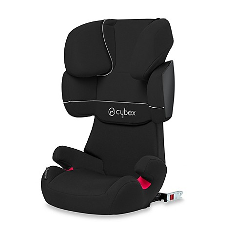 buy cybex silver solution x fix booster seat in pure black from bed bath beyond. Black Bedroom Furniture Sets. Home Design Ideas